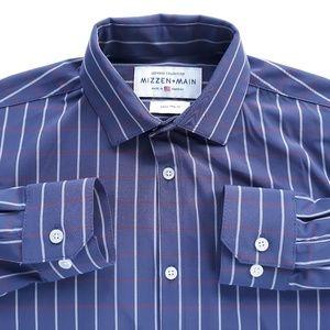 Mizzen+Main Small Trim Fit Mens Shirt Striped
